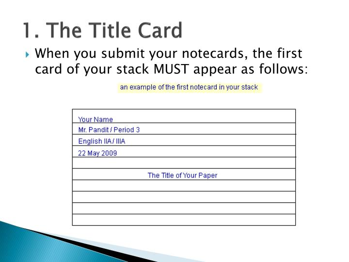 Online Notecards For Research Paper