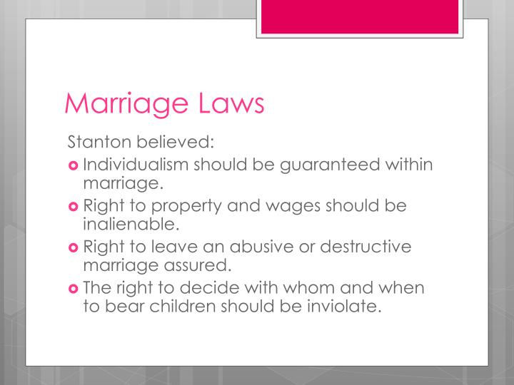 Marriage Laws