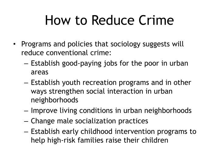 How to Reduce Crime