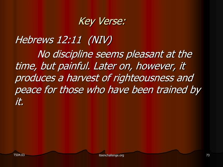 Key Verse: