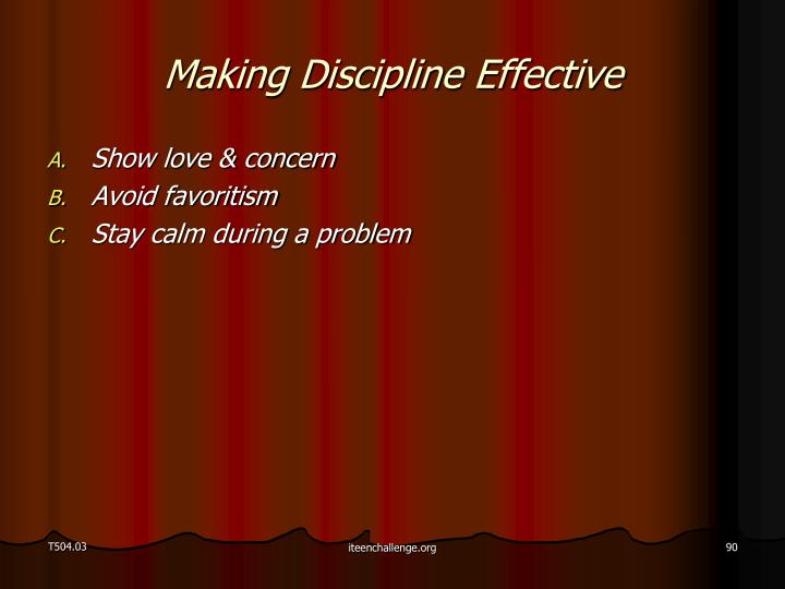 Making Discipline Effective