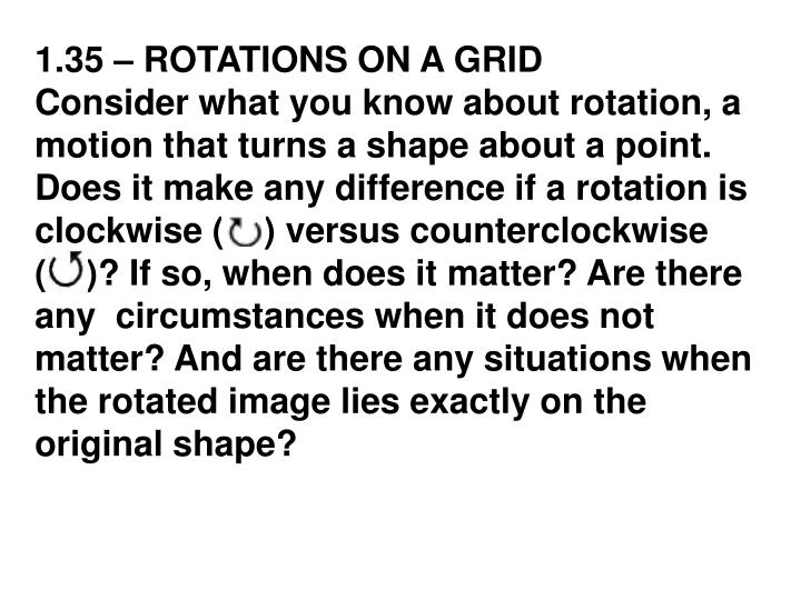 1.35 – ROTATIONS ON A GRID