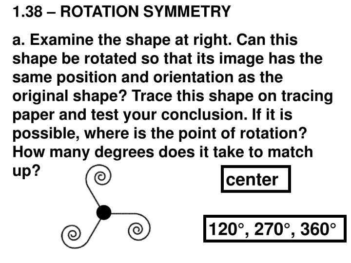 1.38 – ROTATION SYMMETRY