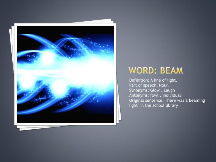 Word: Beam
