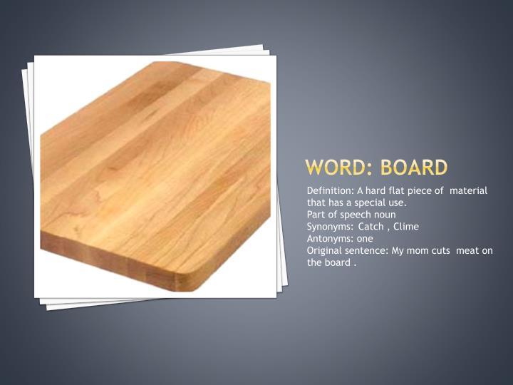 Word: board