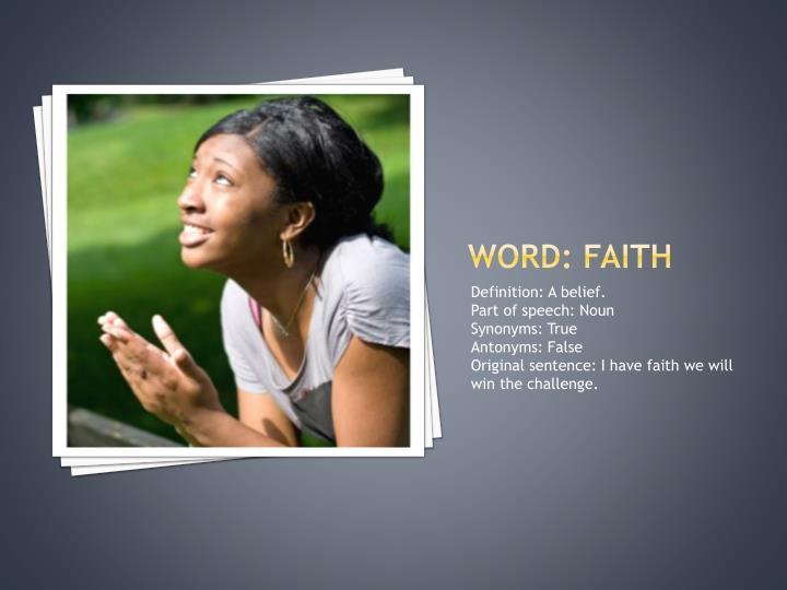 Word: faith