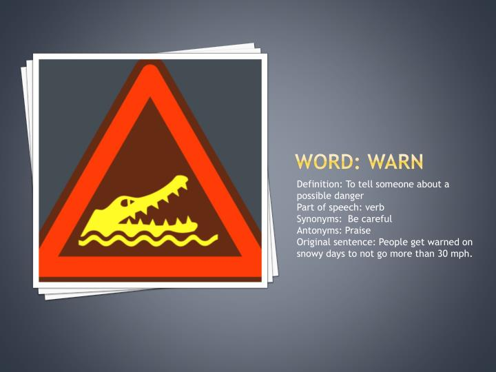 Word: WARN