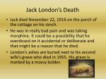 jack london s death