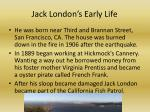 jack london s early life
