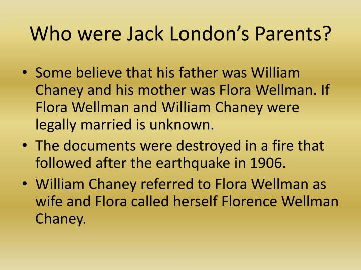 Who were jack london s parents