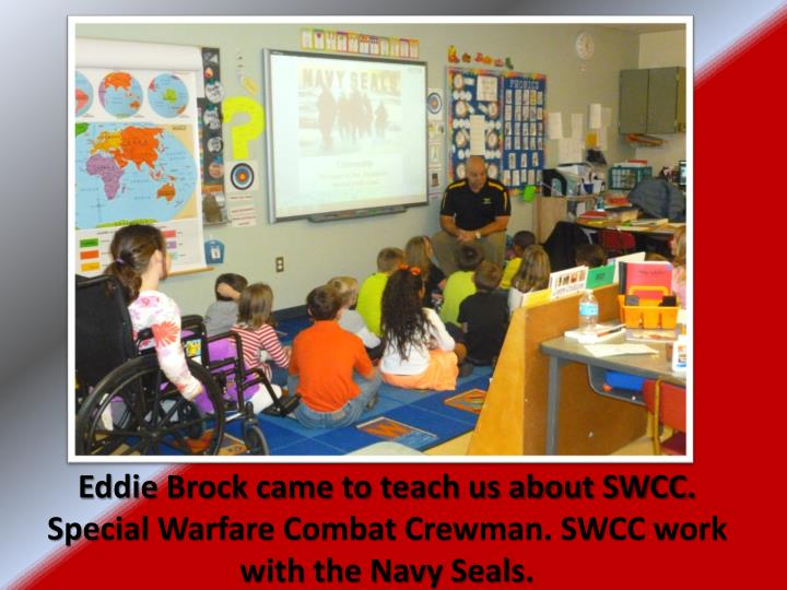 Eddie Brock came to teach us about SWCC. Special Warfare Combat Crewman. SWCC work with the Navy Seals.