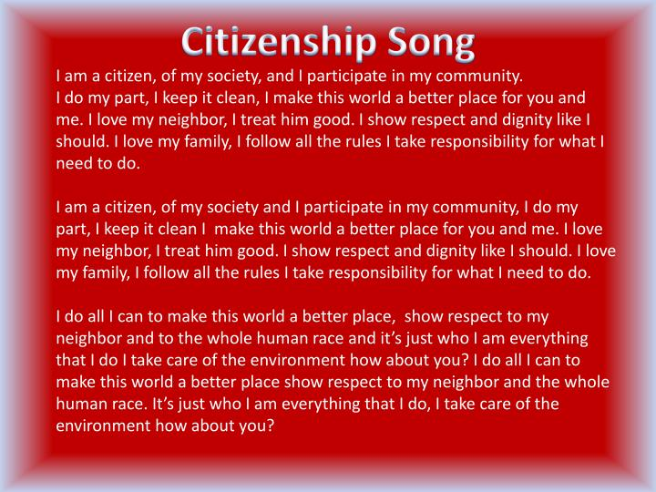 Citizenship Song
