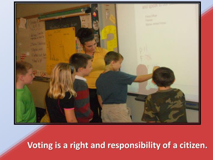 Voting is a right and responsibility of a citizen