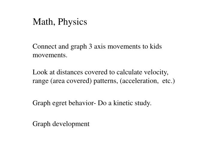 Math, Physics