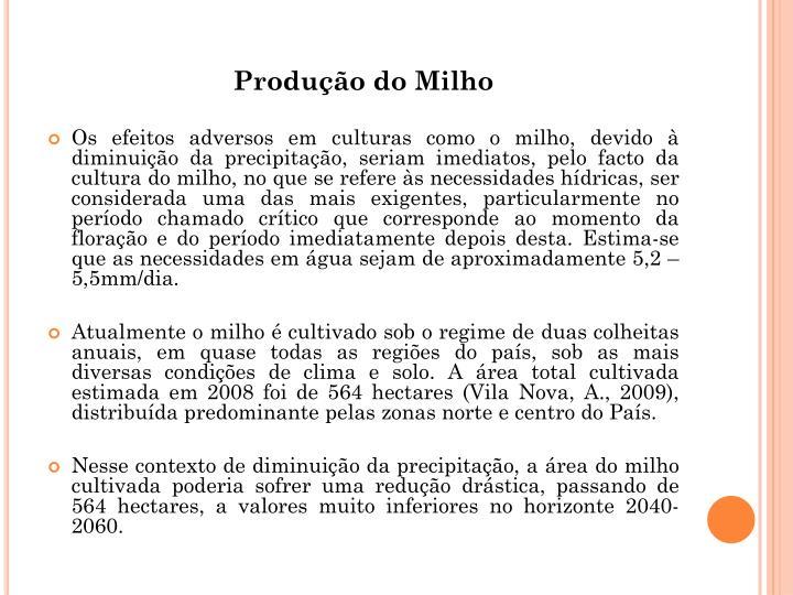 Produo do Milho