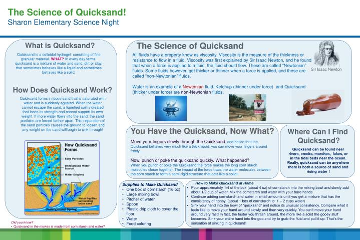 The Science of Quicksand!