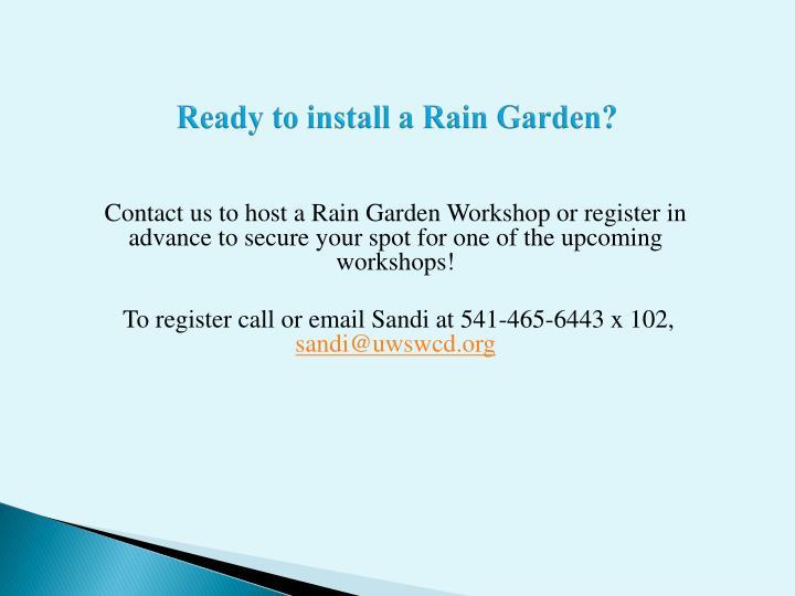 Ready to install a Rain Garden?