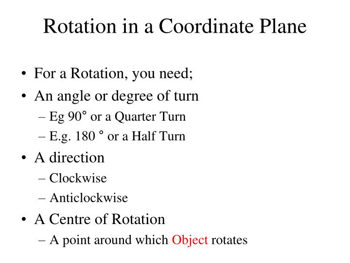 Rotation in a