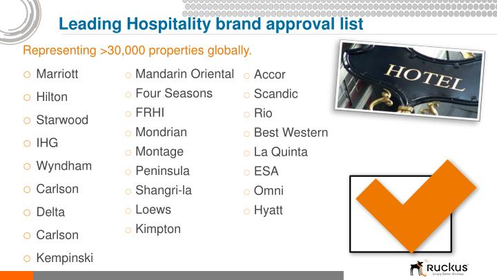 Leading Hospitality brand approval list