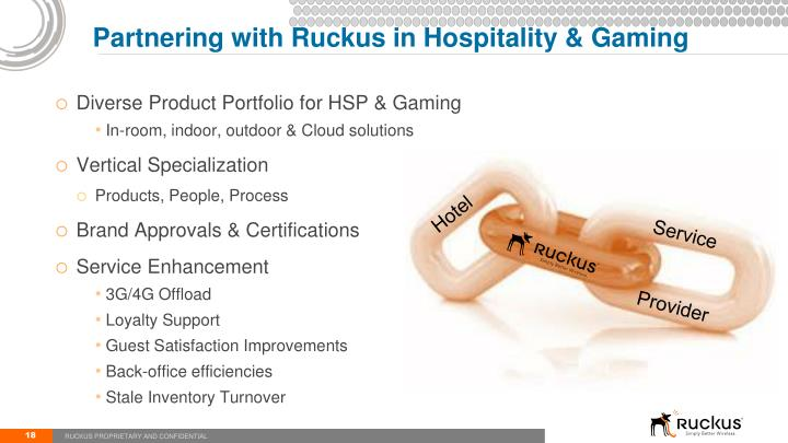 Partnering with Ruckus in Hospitality & Gaming