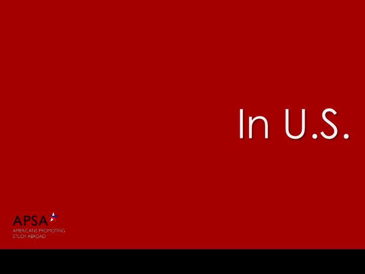 In U.S.