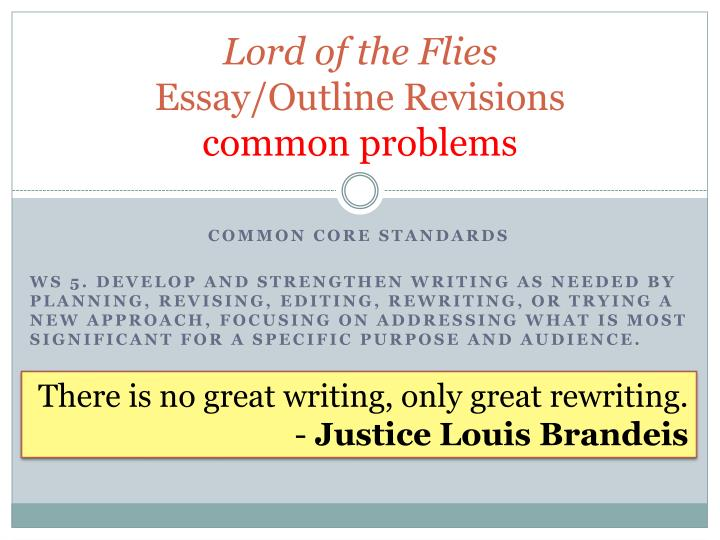 the lord of the flies movie/ book essays