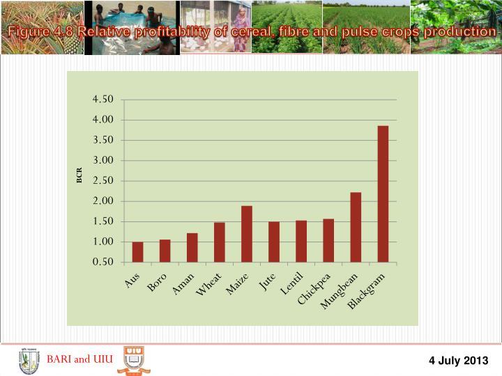 Figure 4.8 Relative profitability of cereal,