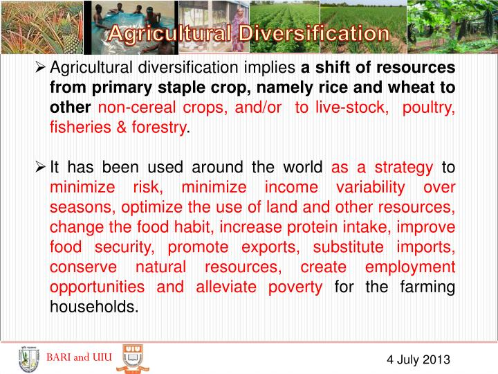 Agricultural Diversification