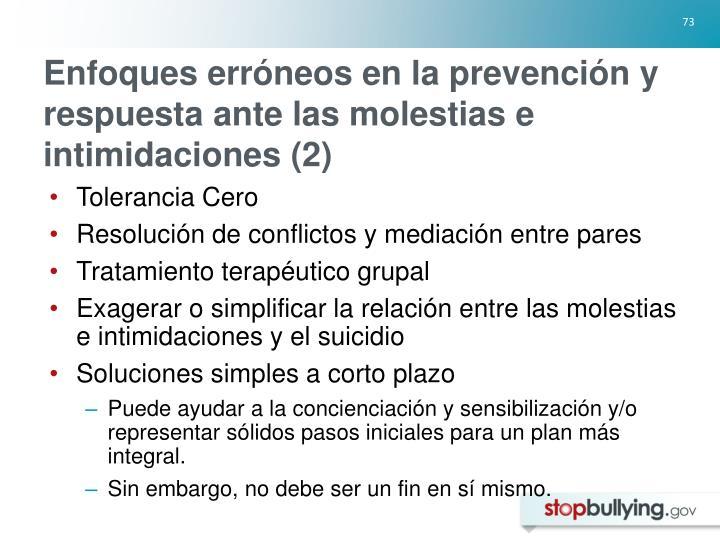 Enfoques erróneos en la prevención y respuesta ante las molestias e intimidaciones (2)