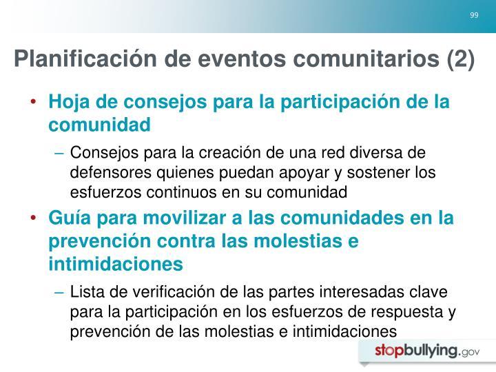 Planificación de eventos comunitarios (2)