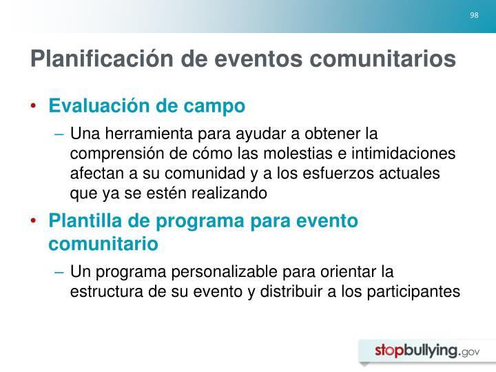 Planificación de eventos comunitarios