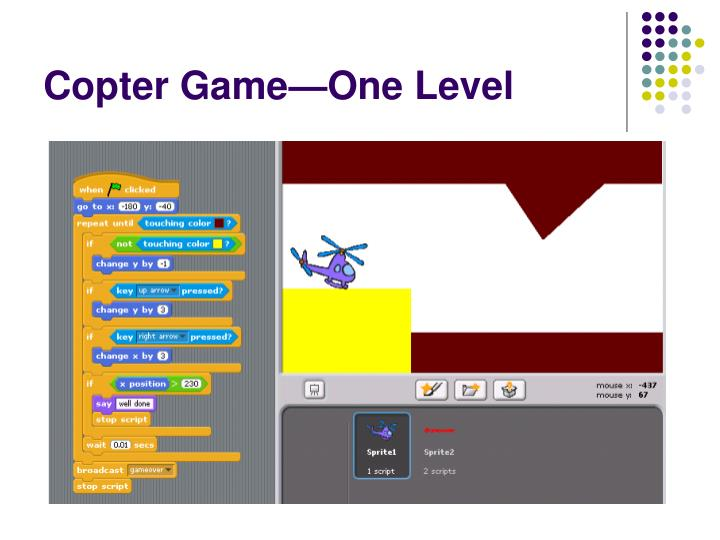 Copter Game—One Level