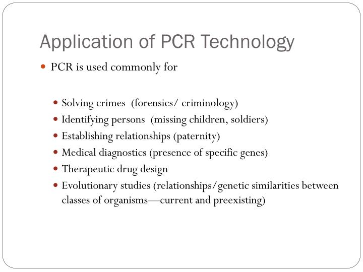 Application of PCR Technology