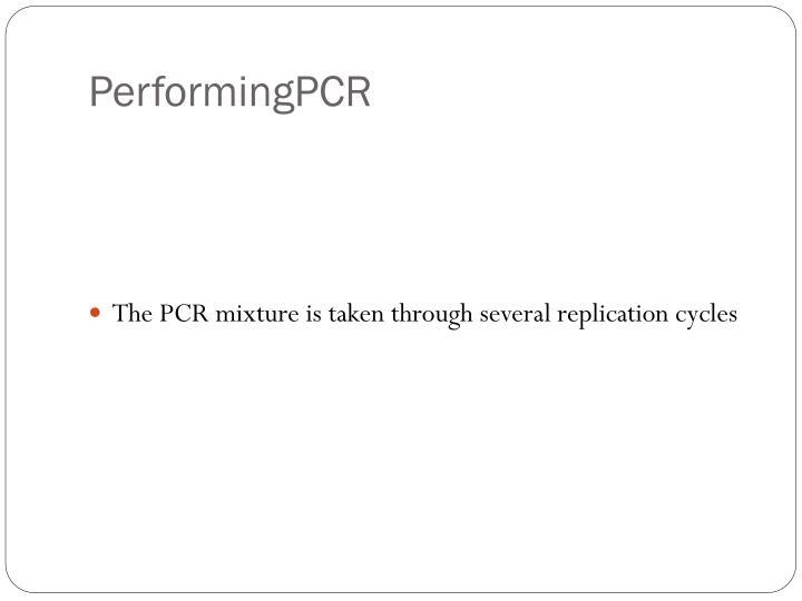 PerformingPCR