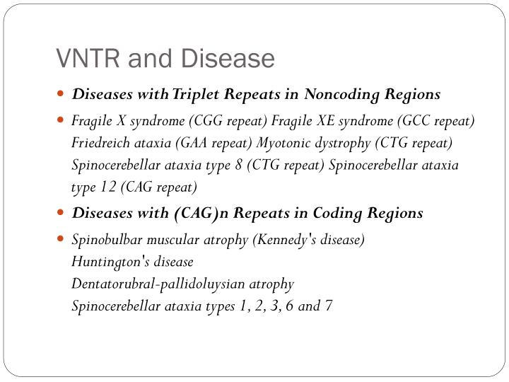 VNTR and Disease