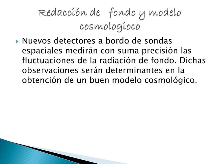 Redacción de   fondo y modelo