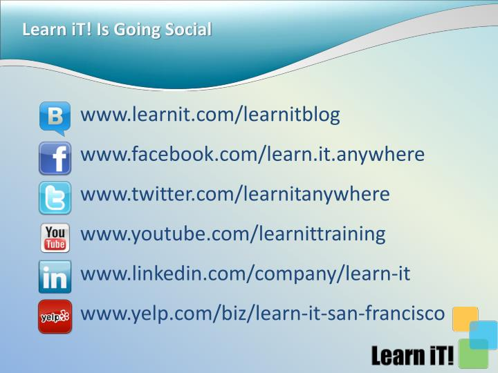 Learn it is going social