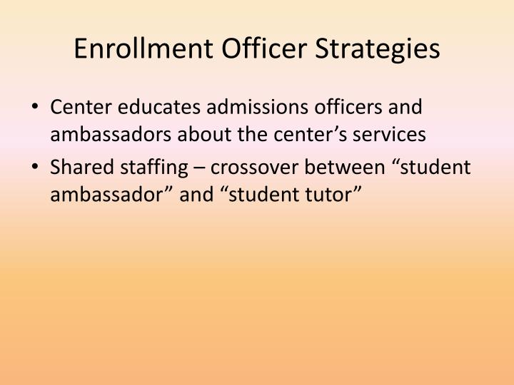 Enrollment Officer Strategies