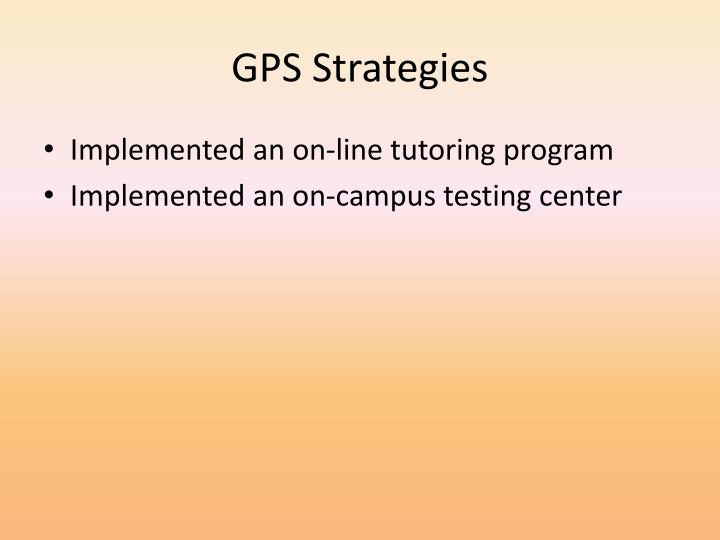 GPS Strategies