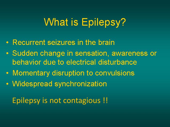 Epilepsy is not contagious !!