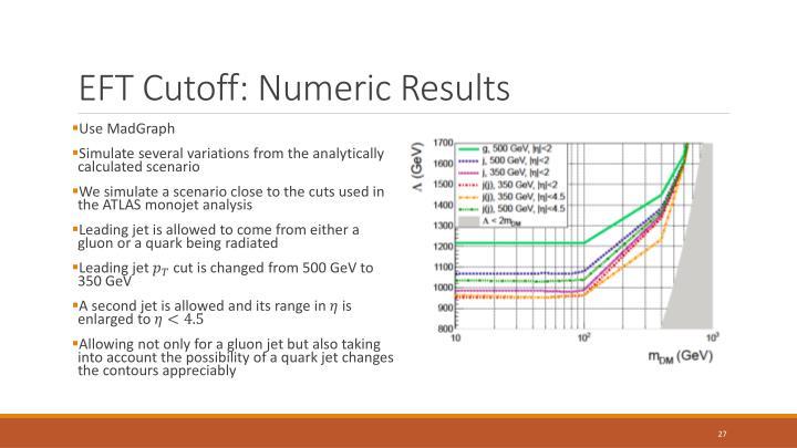 EFT Cutoff: Numeric Results