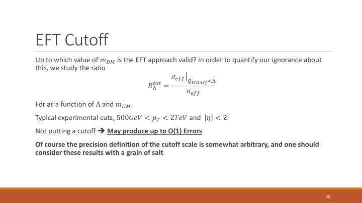 EFT Cutoff