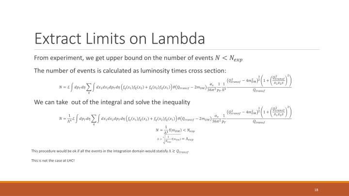 Extract Limits on