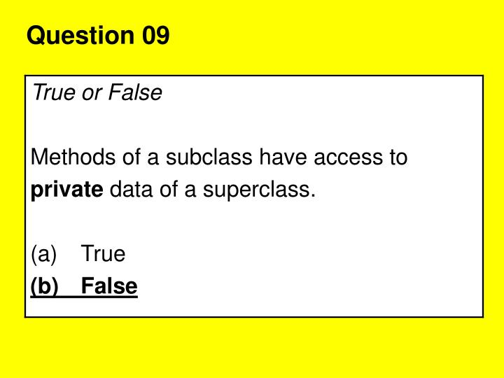 Question 09