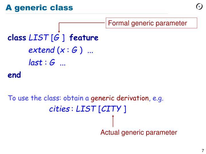 A generic class