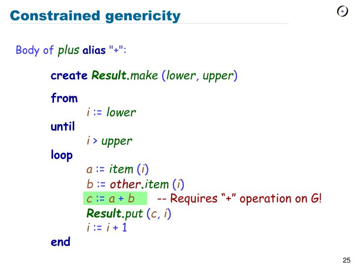 Constrained genericity