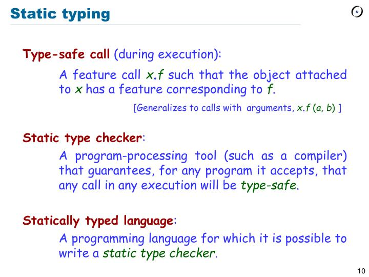 Static typing