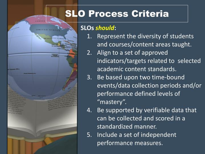 SLO Process Criteria