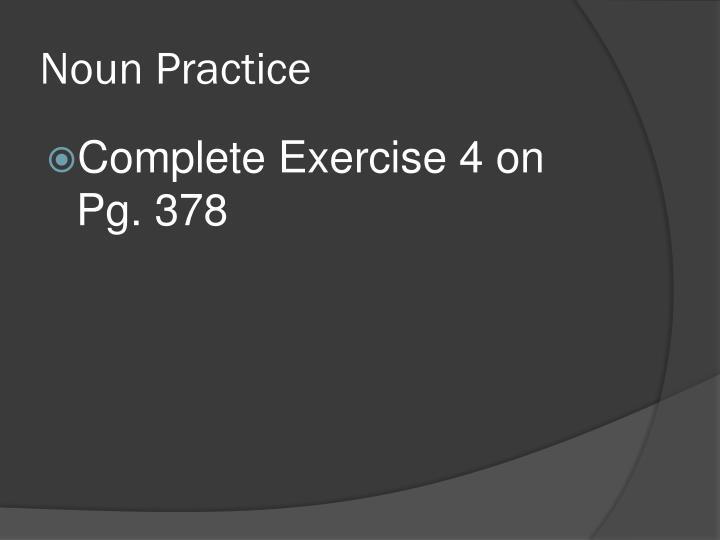 Noun Practice