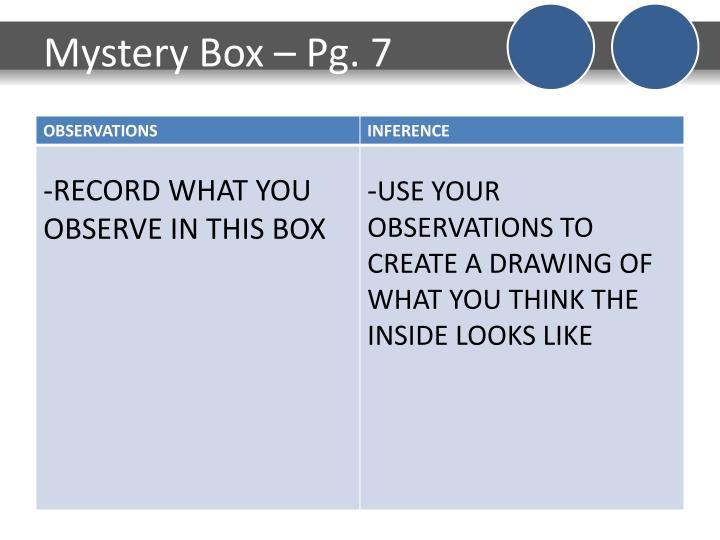 Mystery Box – Pg. 7